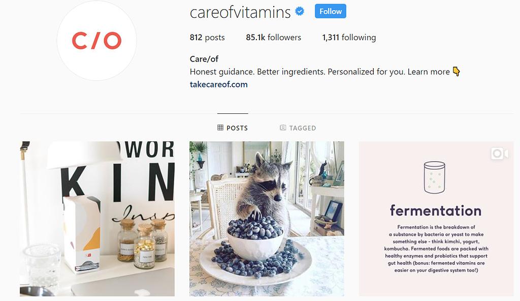 care/of instagram vitamins brand
