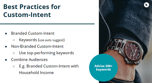 custom intent audiences best practices