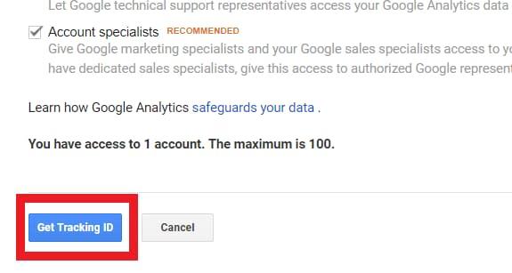 tracking id google analytics ecommerce setup