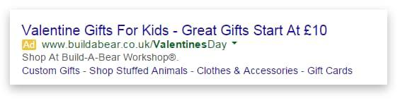 AdWords PPC valentines