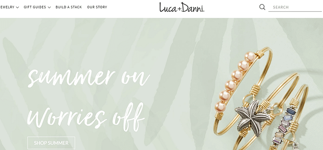 luca danni website customer experience