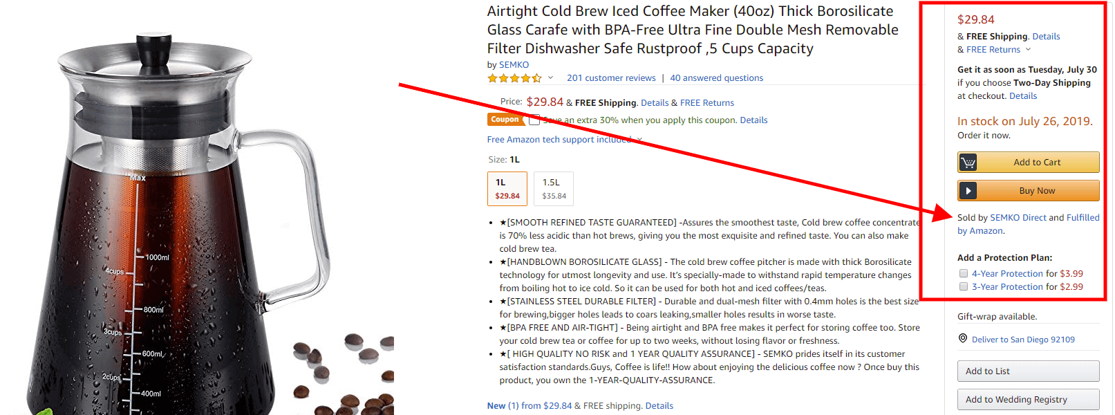 amazon buybox cold brew