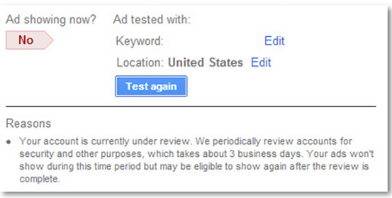 product listing ads adwords account review current screen