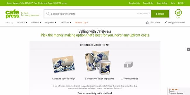 top 10 online marketplaces cafe press