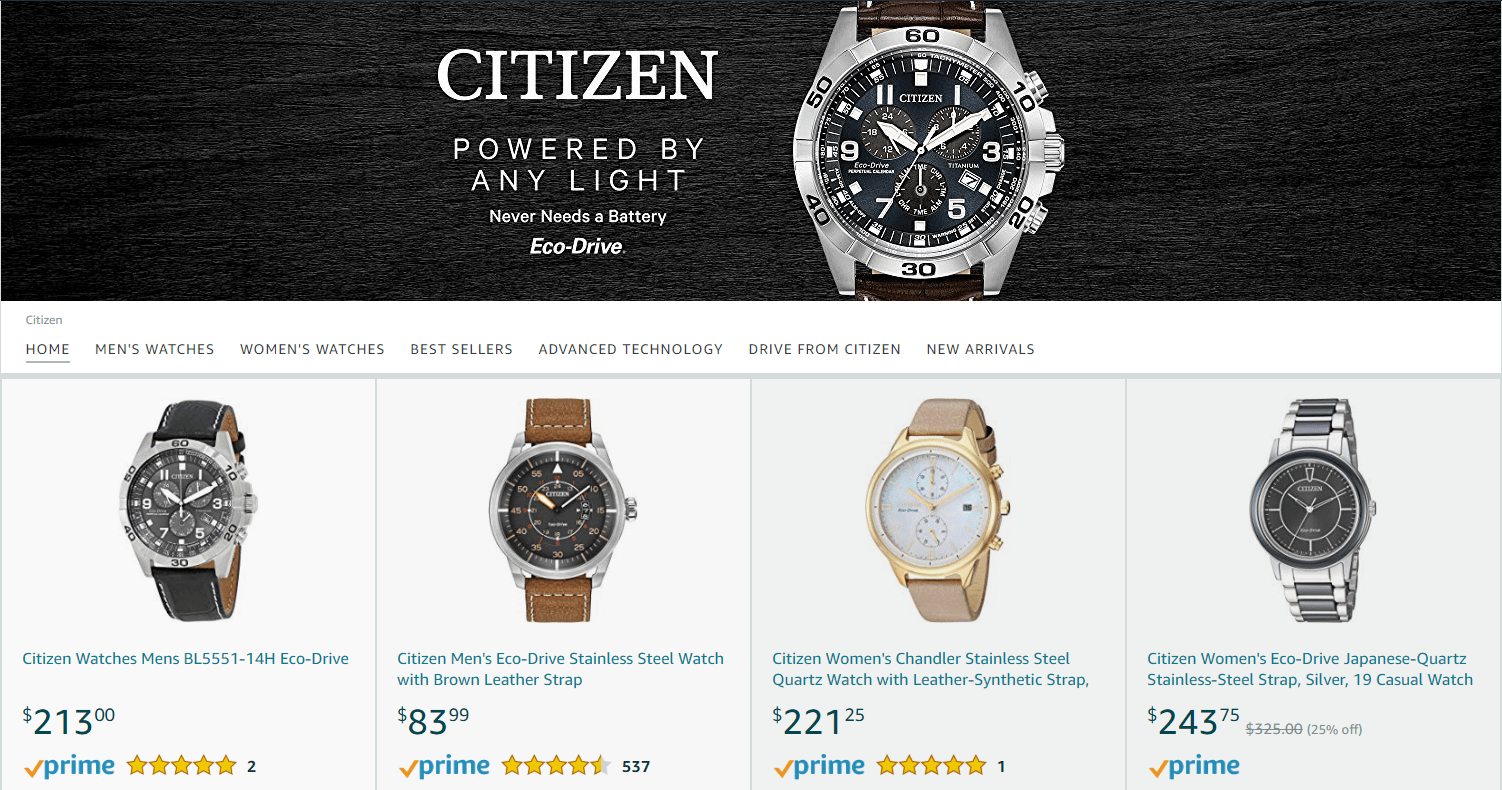 amazon luxury citizen watches