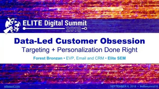 Data-Led Customer Obsession: Targeting + Personalization Done Right