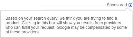 Google PLA sponsored ads