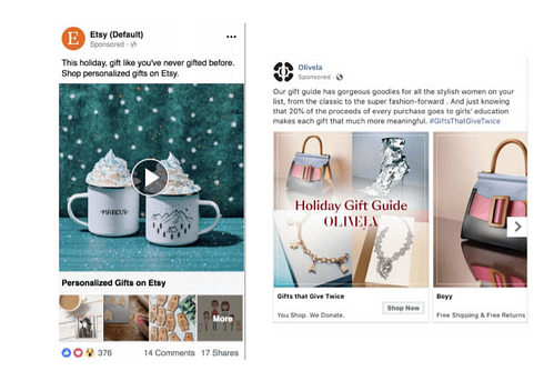holiday facebook ads