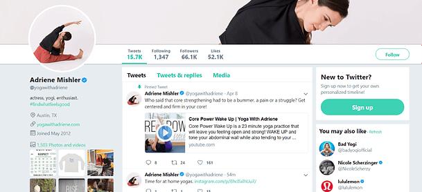 influencer marketing cpc strategy adriene mishler yoga star