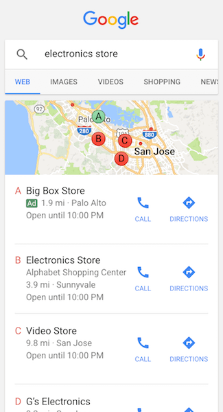 local search ads search engine marketing