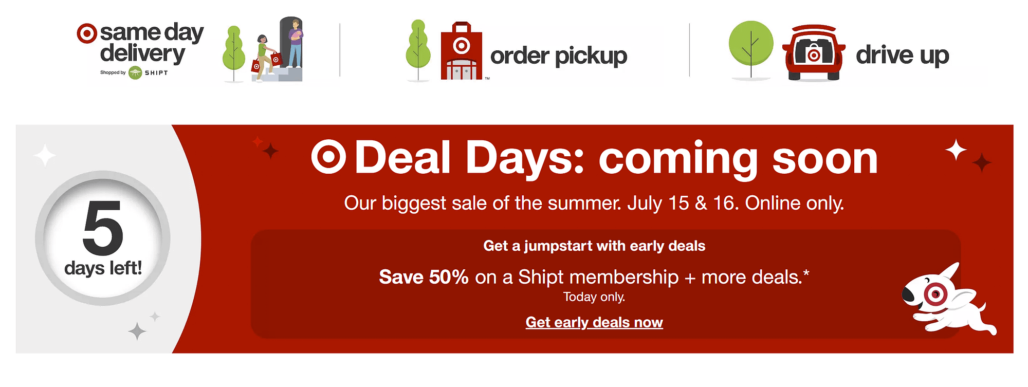 target deal day prime day competition promotion
