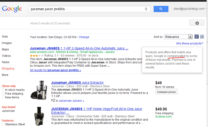 New Google Shopping SERPs