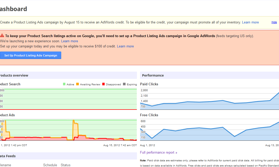 Google's Merchant Center now Separates Free vs Paid Clicks