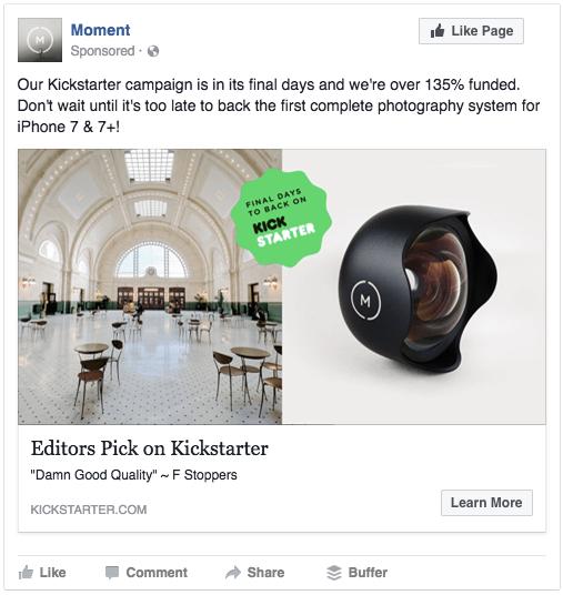 kickstarter-campaigns-facebook-ad