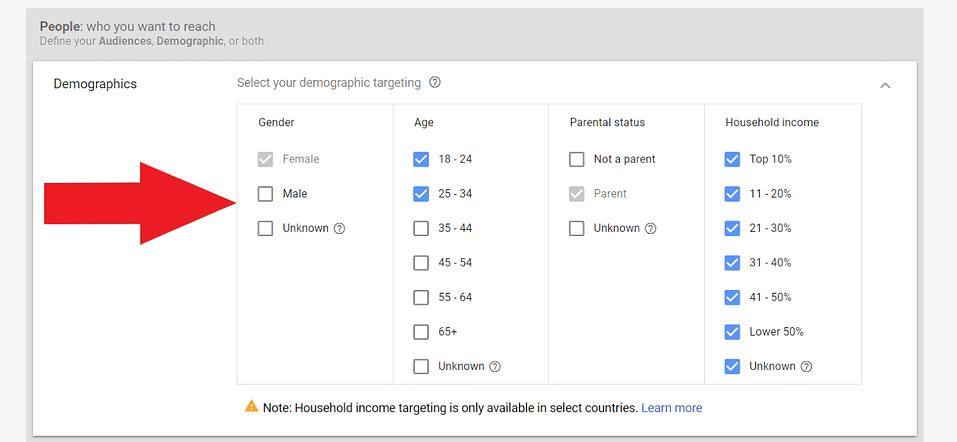 google adwords youtube demographic targeting