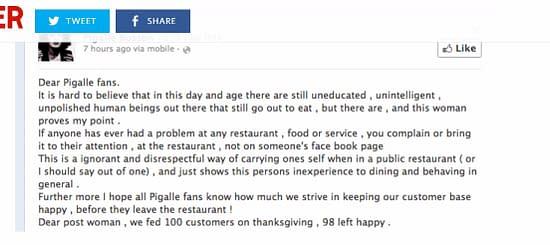 facebook review negative