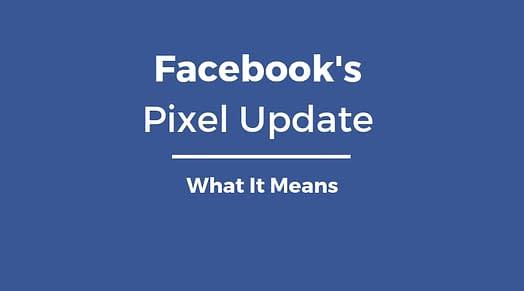 facebook pixel update