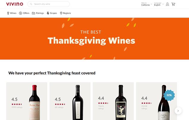 vivino wines homepage