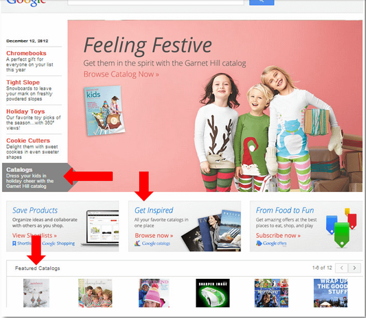 product listing ads consumer features google catalogs
