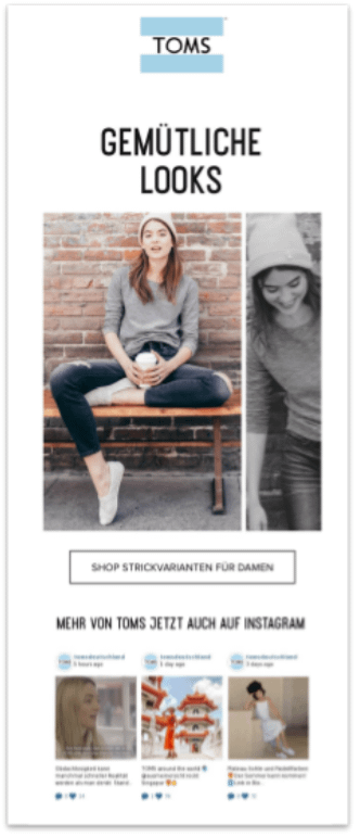 email personalization toms