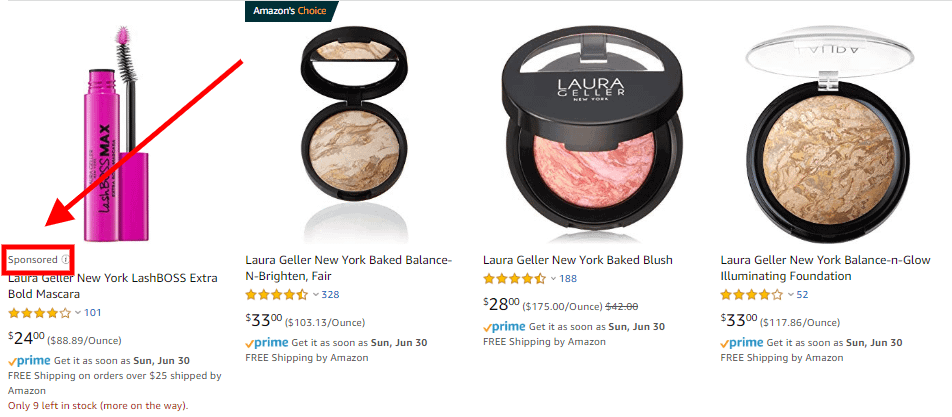 laura geller sponsored ads amazon beauty