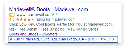 Adwords location extensions PPC
