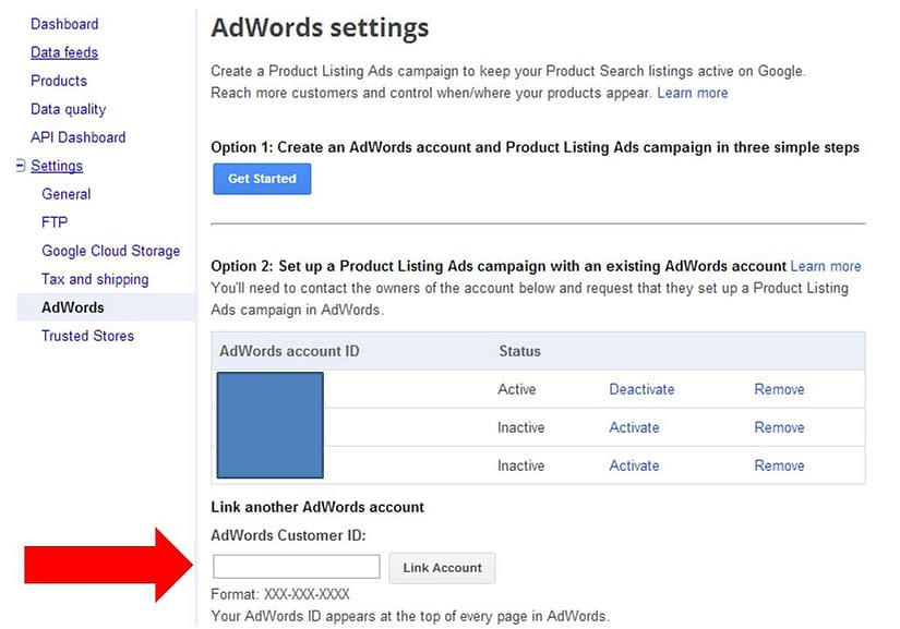 Link GA and GML for Product Listing Ads