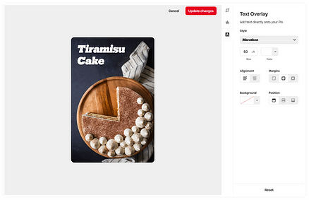 pin builder screenshot tiramisu cake