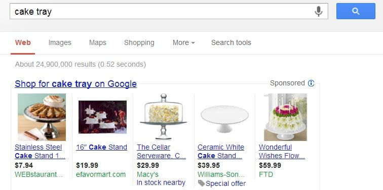 Product Listing Ads on search