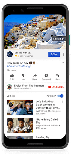 call to action extensions youtube ads