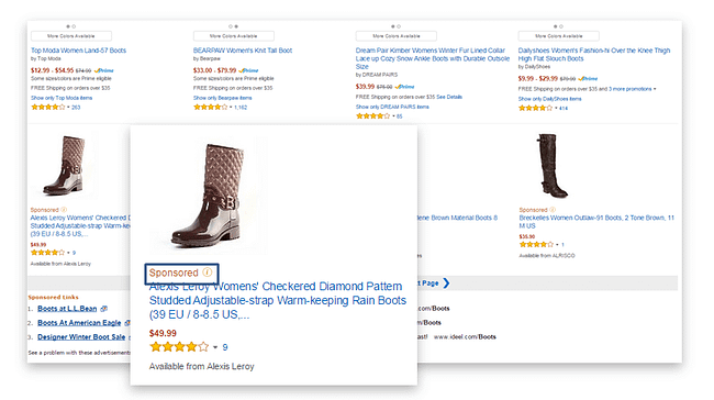 Amazon-sponsored-products-SERP-placement