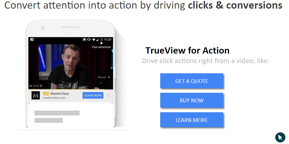 youtube ads trueview for action ads example