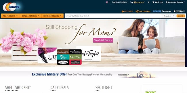 top 10 online marketplaces newegg
