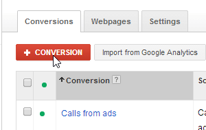 mobile AdWords call conversion type