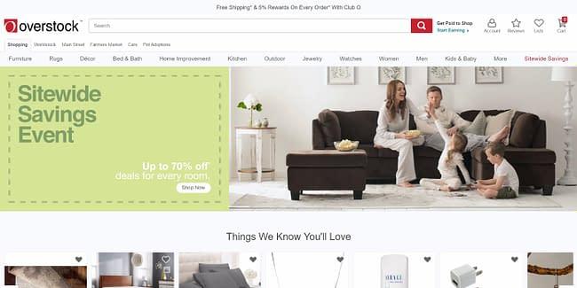 top 10 online marketplaces overstock