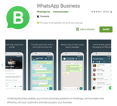 whatsapp business google play