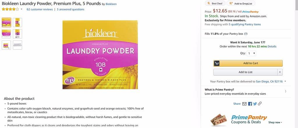 amazon prime pantry laundry detergent