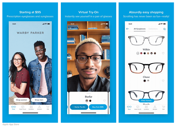 warby parker cpg personalization