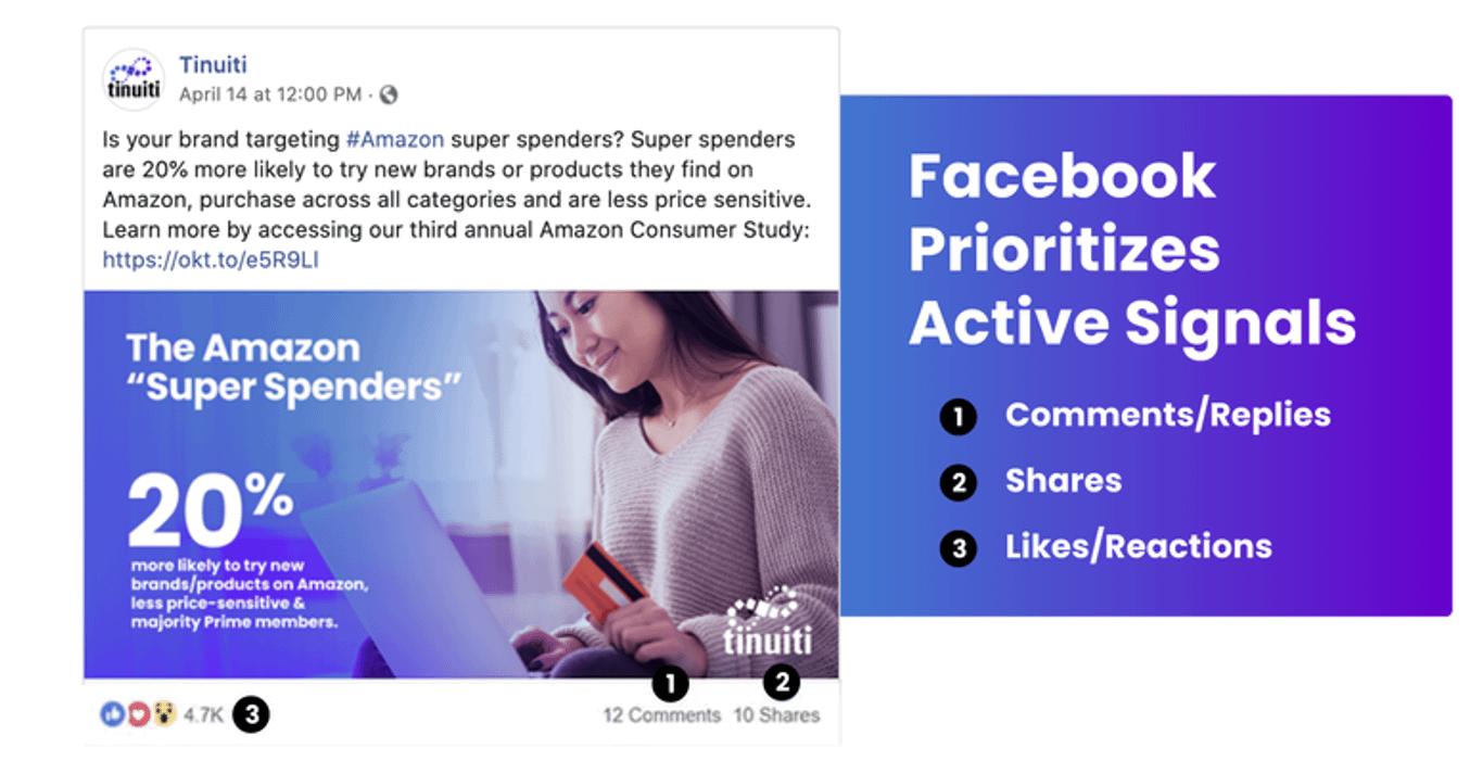 algoritmo do facebook e interações significativas