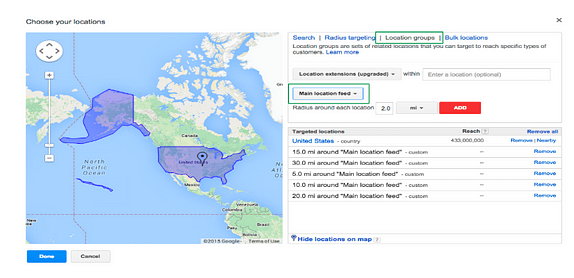 location extension google