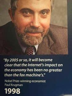 paul krugman internet quote