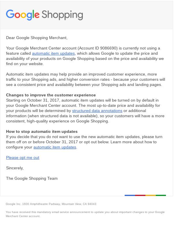 google-merchant-center-automatic-item-update-email