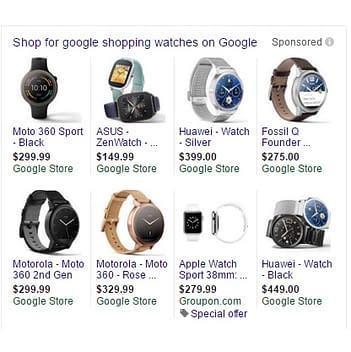 google shopping whitelists