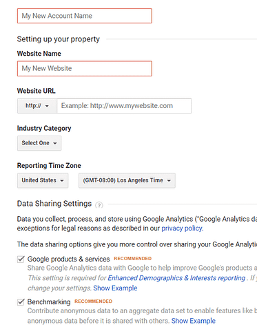 set up google analytics account for ecommerce