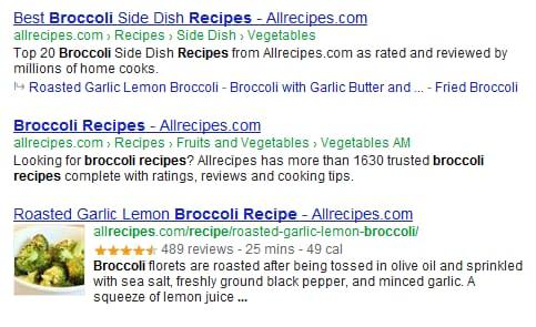 Rich Snippets broccoli