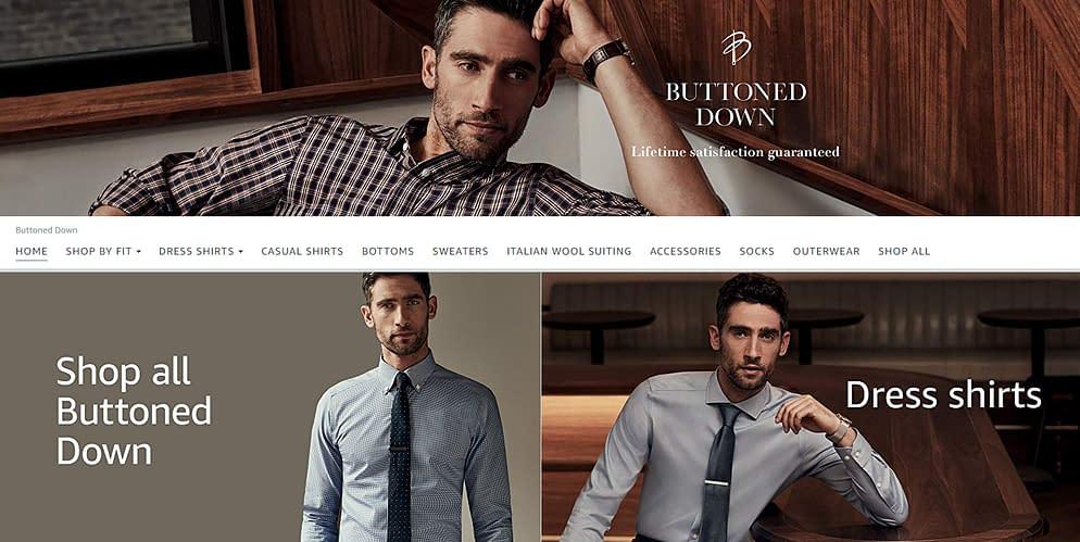 amazon apparel buttoned down