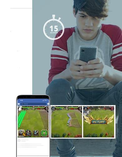 boy playing gaming app