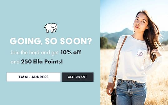 ivory ella email overlay example onsite