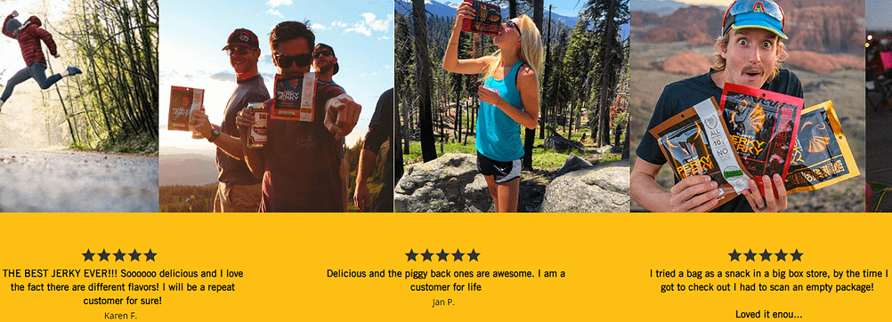 perky jerky customer experience reviews on ecommerce website