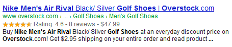 Rich Snippets for products - Google